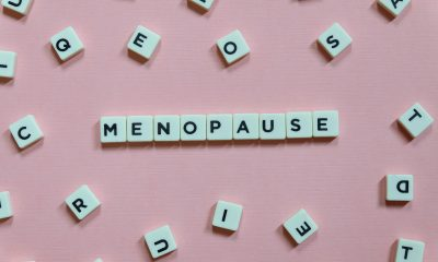 A set of scrabble tiles spelling out menopause to highlight the development of a new menopause app